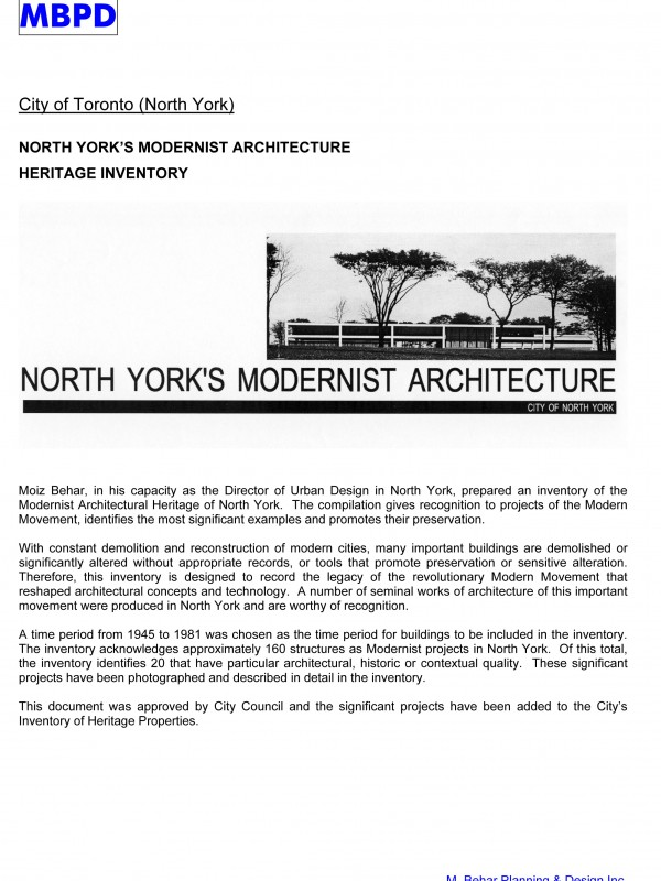 NY Modernist Heritage Project Sheet